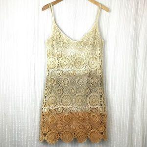 Michelle Jonas Ombré Crochet Dress